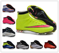 kids rubber boots - Kids Womens Youth Mercurial Superfly FG CR7 Cleats Shoes Soccer Boots Superfly Socks Boots Football Shoes FIFA World Cup