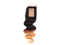 Wholesale Human Hair Lace closure brazilian body wave hair Lace Top Closure quot quot wave quot quot B Color H6126A