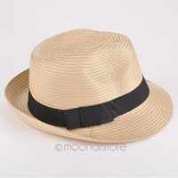 Cheap Stingy Brim Hat Summer Beach Cap Best Black Casual Straw Hat Sun Cap
