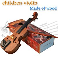 Wholesale Wooden Children s Violin Musical instrument toys Electric Violin Simulation Violin Sound toys Gift Decoration Photographic props