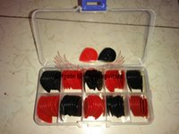 Wholesale 100 piece Guitar Picks Jazz III with case In Stock black with red