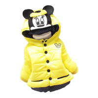 Wholesale New Children Coat Minnie Baby Girls winter Coats full sleeve coat girl s warm Baby jacket Winter Outerwear Thick girl clothing free shi
