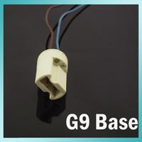 ceramic base - 10PCS G9 Base Socket LED Ceramic Bulb G9 Halogen Lamp Wire Connector Holder G9 LED