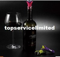 Wholesale wine stopper wine pouring device bottle tampion silica gel leak proof the plug multicolor colors