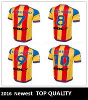 Envío libre Tailandia Soccer Jerseys Valencia 15/16 Camisa ausente Jersey Valencia 2015 Valencia CF 15 16 Inicio Fútbol