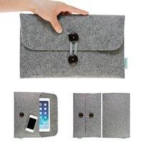 Wholesale 10pcs Fashion wool felt Laptop Sleeve Case Notebook bag For MacBook inch Air Pro Retina Laptop pouch bag