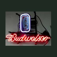 beer can light - NEW BUDWEISER CAN NEON SIGN REAL GLASS TUBE BEER BAR PUB Neon Light Sign store display