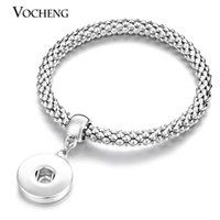 Wholesale VOCHENG NOOSA Trend Jewelry Interchangeable mm Ginger Snaps Button in Charm Bracelet Vb