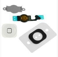 flex caps - BLACK or White Home Menu Button Key Cap Flex Cable Bracket Holder for Apple iPhone C sets