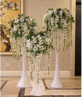 artificial wedding cakes - 2015 Hot Sale Silk Flower Artificial Flower Wisteria Vine Rattan For Valentine s Day Home Garden Hotel Wedding Decoration