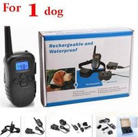 Wholesale For dog Rechargeable and Waterproof meters Remote Electric Shock Anti bark Pet Dog Training Collar with LCD display