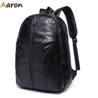 aaron school - Aaron New Fashion Women Men Backpack Large Black Leather Backpack School Bag Travel Camping Shoulder Bag Teenager Rucksack