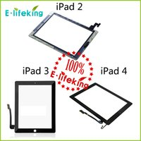 apple ipad parts - 20PCS For iPad Touch Screen Digitizer Assembly Glass Front Lens Replacement Part for iPad White Black DHL