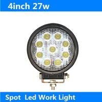 atv light led - 4 quot W LED W LED Work Light BAR Fog Light Lamp for Jeep SUV ATV Off road Universal K Flood Spot Beam Truck Boat Cars