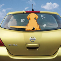 Wholesale Vivid Dog Sticker With a Wagging Tail For Car Rear Window And Windshield Wiper