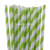 apple mixed drinks - Lime Drinking Straw Apple Green Paper Straws Mixed Colors Party Decorative Colors for your choose