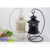 Wholesale Novelty Continental Iron Hollow Candlestick Retro Ornaments Fashion Iron Crafts Candle Holders for Decoration