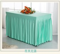 Wholesale wholesale2016 New arrival plain color polyester table skirt wedding meeting table skirt custom tablecloth CM cm cm