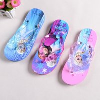 cartoon slippers - 2015 Summer Girls Frozen Beach Slippers Elsa Anna Cartoon Slipper Women SlipperChildren Household Antiskid Breathable Sweat Slippers GZ GD44