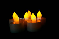 Wholesale 2015 New Products Hot Sale Fashion Set of h or h Flameless Ivory LED Tea Lights with Dual timer