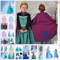 Cheap 2015 AAA+quality kid girl 19 color elsa anna 5 size lace dance sweet tutu party bowknot Net yarn cape Costume Sequin dresses TOPB2011 150PCS
