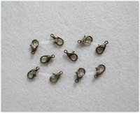 Cheap Free Shipping 12mm Small Metal Lobster Clasps Craft Lobster Claw Toy Doll Accessories - 1000pcs lot LA0409 dark gold