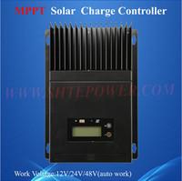 Tension contrôleur 12v France-Livraison gratuite max pv input 150v auto tension de travail 12v 24v 48v rohs mppt contrôleur solaire 60a