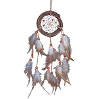 Wholesale Rome Wall Hanging Decoration Rattan Dream Catcher with Feathers Ornament Brand Home decor