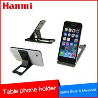 Wholesale 2015 New Black Adjustble Mobile Stand Phone Holder for all smart mobile phone use for reading and watch movies