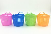 Wholesale Colorful Plastic Table Organizer Storage Baskets Cosmetic Multi purpose Mini Basket Storage