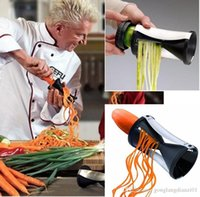 shred tools fruit cutter - Kitchen Spiral Shred Vegetable Fruit Tools Process Device Cutter Slicer Peeler