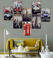 metal wall art - Vintage Metal Painting Retro Finishing Coffee Bedroom Wall Decoration Home Decoration Iron Poster Metal Wall Art