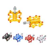 Wholesale High Quality Bicycle Pedals Bike Pedals Sealed Bearings CNC Steel Axle Platform Pedals for BMX MTB Bicycle Colors