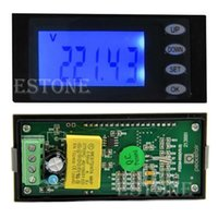 Wholesale A AC Digital LED Panel Power Meter Monitor KWh Time Watt Voltmeter Ammeter order lt no track
