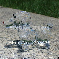animal crystal figurines - Crystal glass figurine dog puppy animal statue lovely crystal animals for gifts