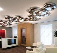 Wholesale LED Ceiling Lamp Minimalist Bedroom Living Room Study Drop Restaurant Lights Luxury Plating Ceiling Lamp HSA1403