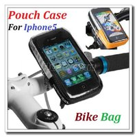 Wholesale High quality Cycling Bicycle Bike Protective Handlebar Bag Pouch Case For Iphone5 HTC Mobile Phone Dropshipping