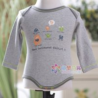 baby product price - new lowest price pure cotton gray cartoon baby bodysuits for baby girls boys baby clothing baby products