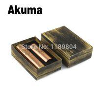 Cheap Wholesale-1pc High quality akuma mod clone red copper ecig full mechanical mod VS hades panzer eletronic cigarette