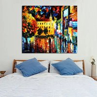 Oil Painting artists works - Best Artist Work Wall Art Handpainted Knife Oil Painting City Sceney Abstract Art on Canvas Modern Art Pictures Home Decoratio