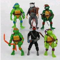 ninja turtles - 6pcs Set Teenage Mutant Ninja Turtles TMNT Action Figures Toys Set Collections DH04