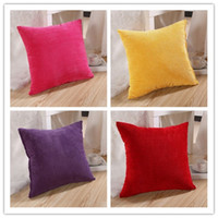 Wholesale Colorful Corn Kernels Corduroy Sofa Decor Throw Pillow Case Cushion Cover Square Office Back Car Cushion