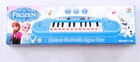 Wholesale Musical instruments Toy for Kids Frozen Queen Girl Cartoon Electronic Organ Toy Keyboard Electronic Baby Piano With Music Song Educational