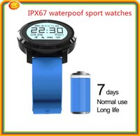 alarm clock professional - 100 NEW professional sports watches bluetooth4 touch screen smartwatches with pedometer alarm clock sleep monitor heart rate F68