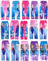 Cheap Frozen Elsa Anna Leggings Pants Children Kids Trousers Kids Tights Child Cartoon Legging Pants by DHL 52pcs lot
