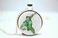 american comic art - 10pcs Superhero Green Lantern Comics Art Print NECKLACE Glass Photo Cabochon Necklace