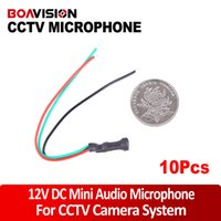audio cable impedance - 10PC DC12V Power m2 Impedance Mini CCTV Microphone for Security Camera Audio Surveillance DVR CCTV Mic Audio Cable Audio Receiver
