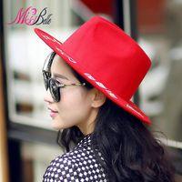 belle sun - MISS BELLE New Fashion Graffiti Letters Print Woolen Hats for Women British Style Vintage Causal Sun proof Jazze Bucket Hat