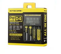 lcd - Top Quality Nitecore I2 I4 D2 D4 Universal Intellicharger LCD Display E Cigarettes Charger for Li on Battery
