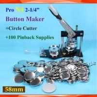 Wholesale Pro N4 quot mm Badge Button Maker Machine Adjustable Circle Cutter Sets Metal Pinback Supplies